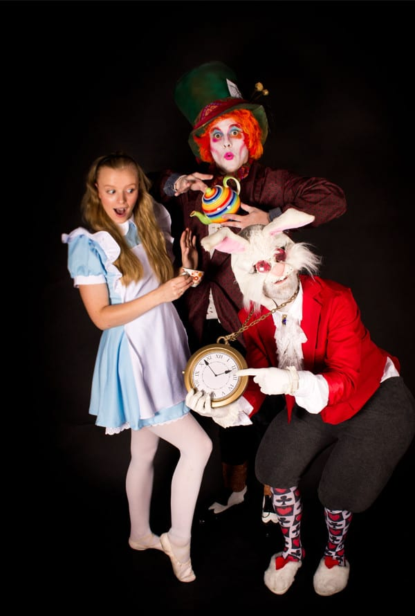 Mad Hatter, Alice, Rabbit