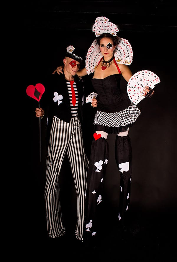 Deck of cards male and female costumes