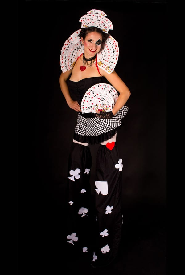 Deck of cards female costume