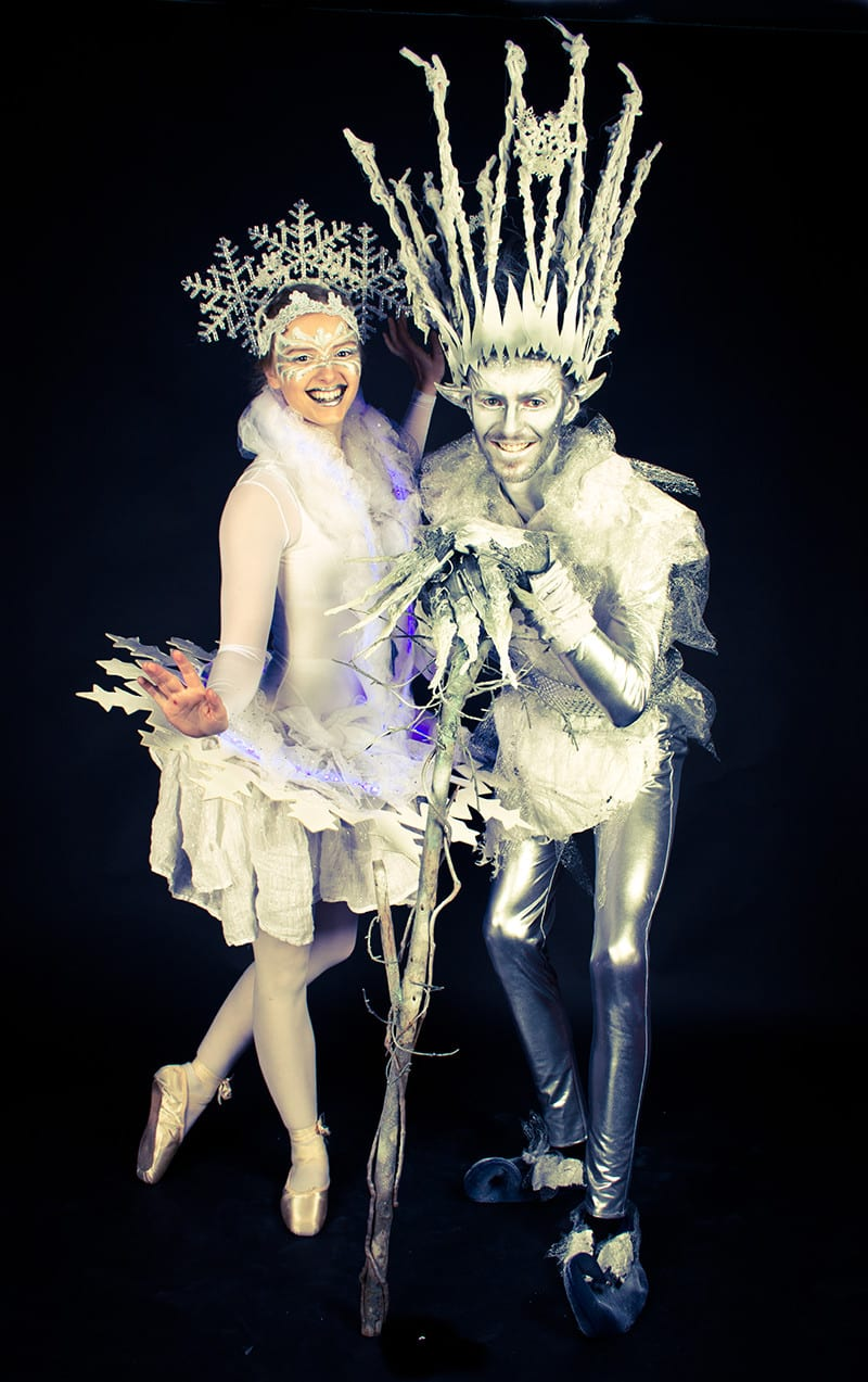 Jack Frost and snowflake costume