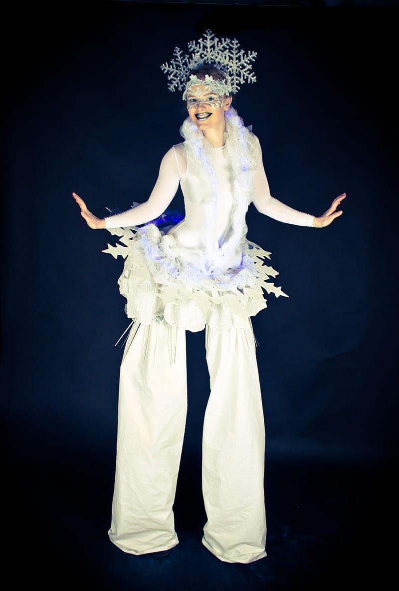 snowflake stilt costume
