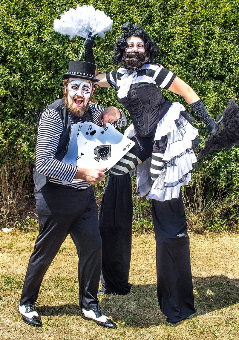 Magician and bearded lady