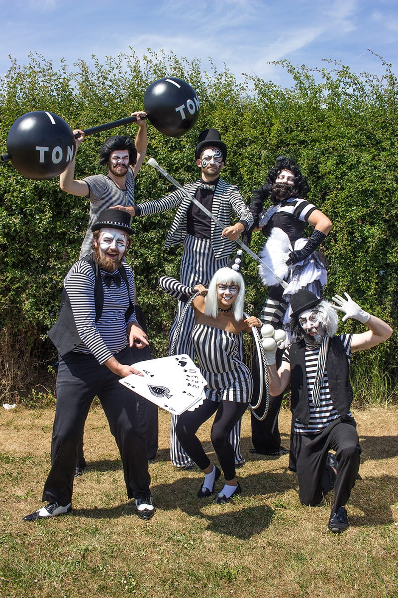 Stripey circus full crew