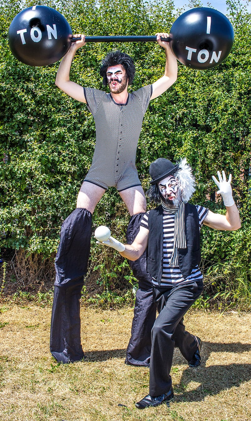 Strongman and mime