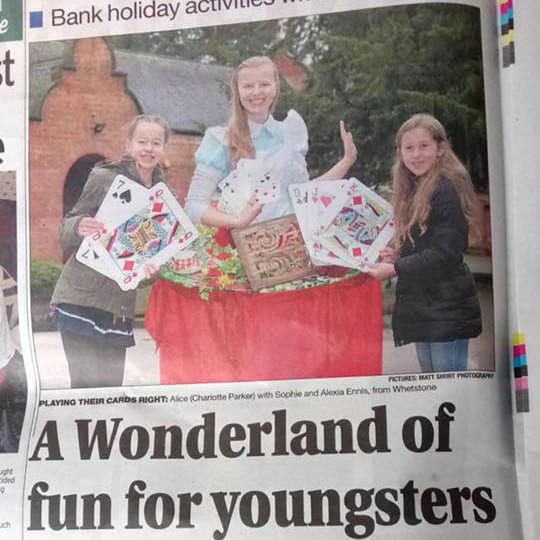Alice made headlines at Beaumanor